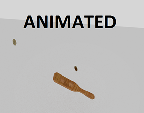 3D model Coin Kip Animation