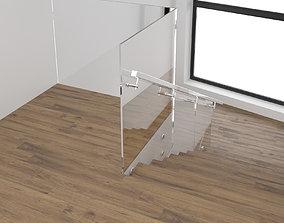 Stairs 3D model metalframe