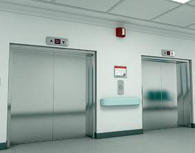 ELEVATOR LOBBY 3D model cabin
