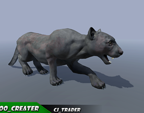 animated Lowpoly Wild Animal Puma Rigged 3D