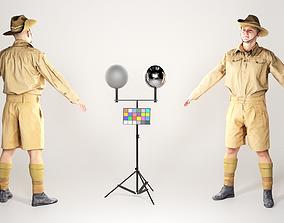 Australian infantryman character from WW2 in 3D model 2