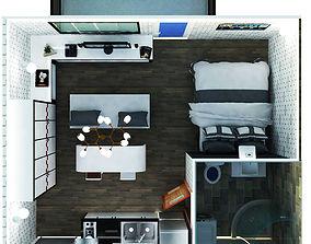 studioapartment 3D Studio Apartment