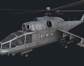 Mi-24a 3D asset low-poly