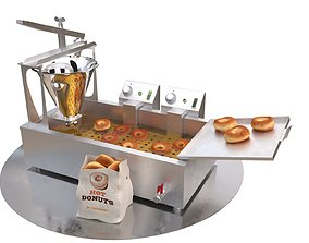 3D model Donut machine