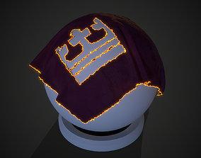 3D model Burned cloth SP SmartMaterial