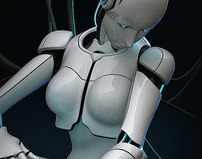 rigged Female Cyborg 3D model