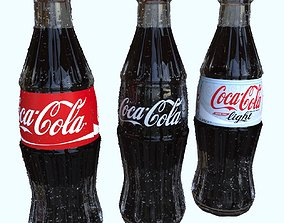 Coca Cola 250ml Bottle 3D