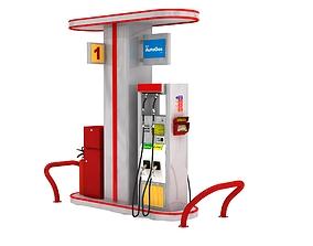 3D model Petrol Gas Station Autogas Pump-2