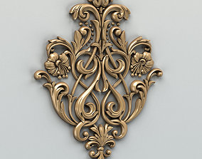 3D Carved decor central 002
