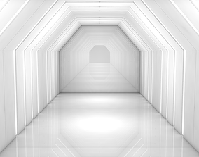 3D asset game-ready Sci Fi Corridor