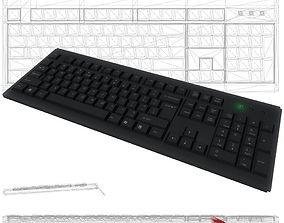 Keyboard Game Ready Low Poly 3D model