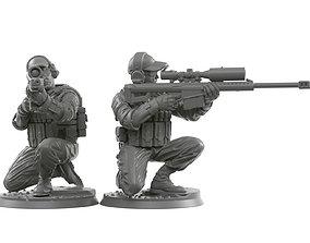 3D printable model Sniper squad 28 - 40 mm scale