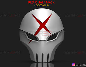 Red X Half Mask - DC comics 3D printable model