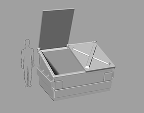 3D printable model Tabletop Gaming Miniature Dumpster 2