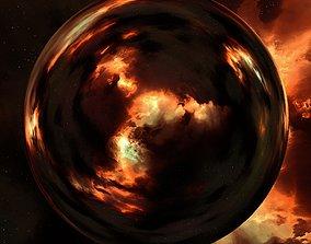 3D Nebula Space Environment HDRI Map 019