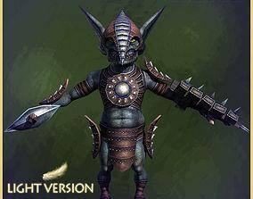 Goblin Warrior Light Version 3D asset