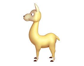 3D Llama Cartoon