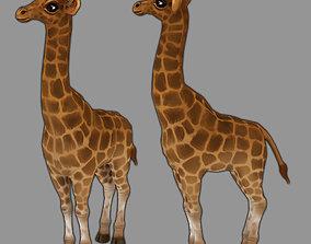 Giraffe 3D model animated realtime