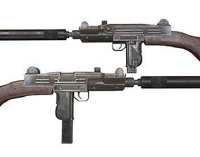 3D model Uzi sub-machine gun