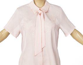 Shirt Salmon See Through Women Clothing 3D asset