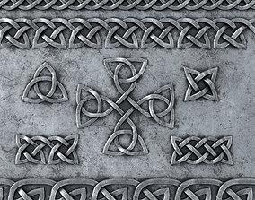 3D asset Celtic Ornament Metal and Normal Set