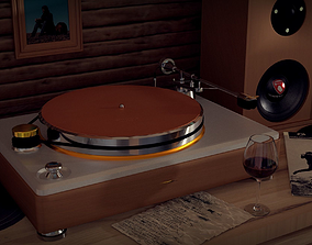 realtime Runwell Turntable 3D Model