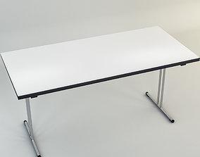 steel 3D model Office Desk