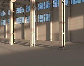 Factory warehouse 3D asset