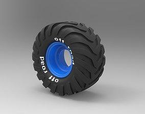 3D model Offroad wheel 2