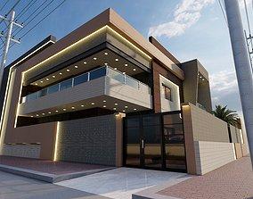 3D model Home facade