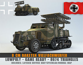 3D model Low Poly 8 cm Raketen Vielfachwerfer auf 4