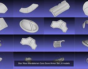 Star Wars Mandalorian Cara Dune Armor Set 3D