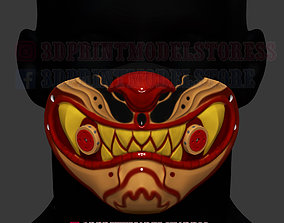 3D print model Tiger Mask Kitsune Japanese Cosplay 3