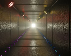 3D model animated SCIFI TUNNEL