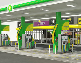 BP GARAGE and SHOP - VrayforC4D Scene 3D