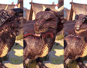 3D model Dragons Pack PBR