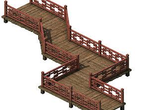 Wooden bridge - nine bridge 3D model