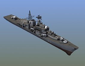 Sovremenny Destroyer 3D asset