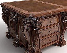 Photorealistic Antique Wooden Desk 2 3D
