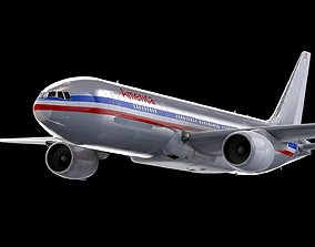 3D asset Boeing 767 American Airline Model -