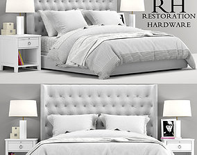 RH Teen Zadie Tufted bed 3D