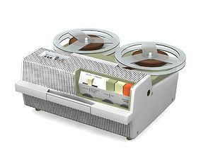 Vintage Tape Recorder 3D