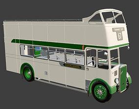 3D model 1953 Bristol KSW 5G Open Top Double Decker Bus