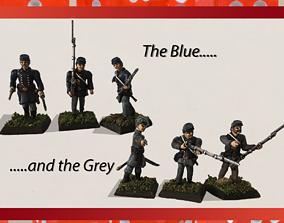 3D print model 28mm Basic American Civil War Infantry