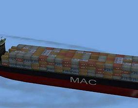 3D asset Container Ship