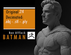 Ben Affleck Batman without mask 3D print model