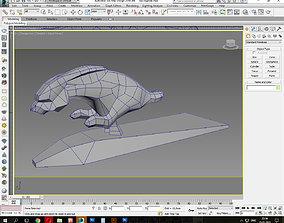 3D asset Running Rabbit low poly
