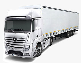 Mercedes Benz Actros 3D asset low-poly