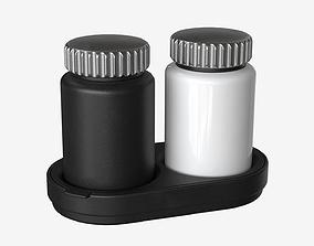 Salt And Pepper Grinder Set 001 3D asset