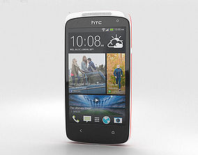 3D model HTC Desire 500 Passion Red